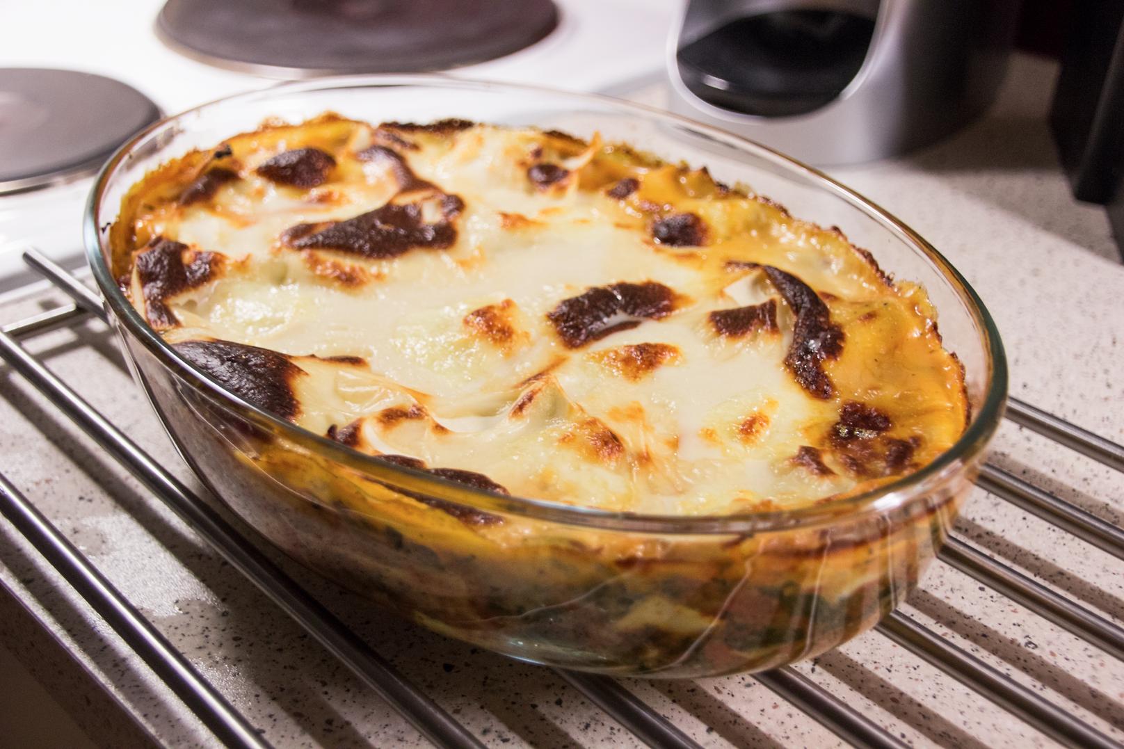 Lasagne - spenat och mozzarella