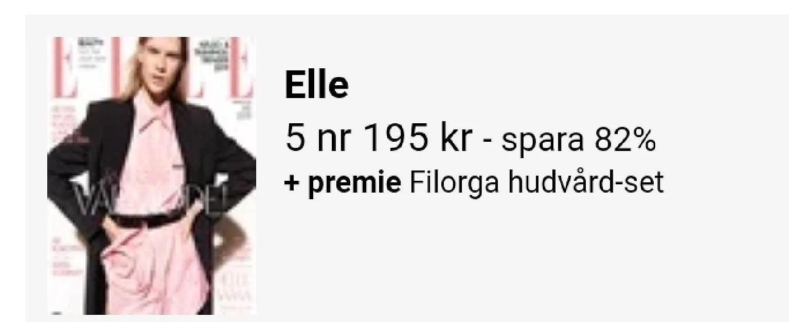 Filorga set med 5 nr av Elle...