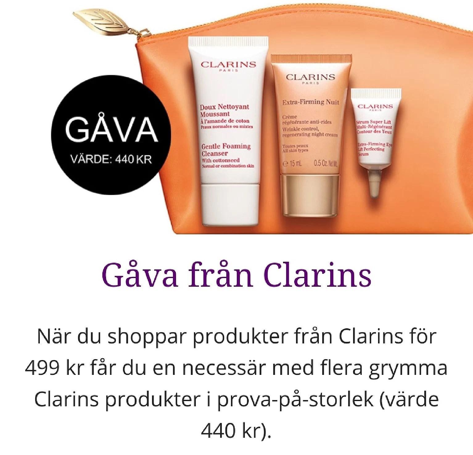 Clarins GWP från NordicFeel...