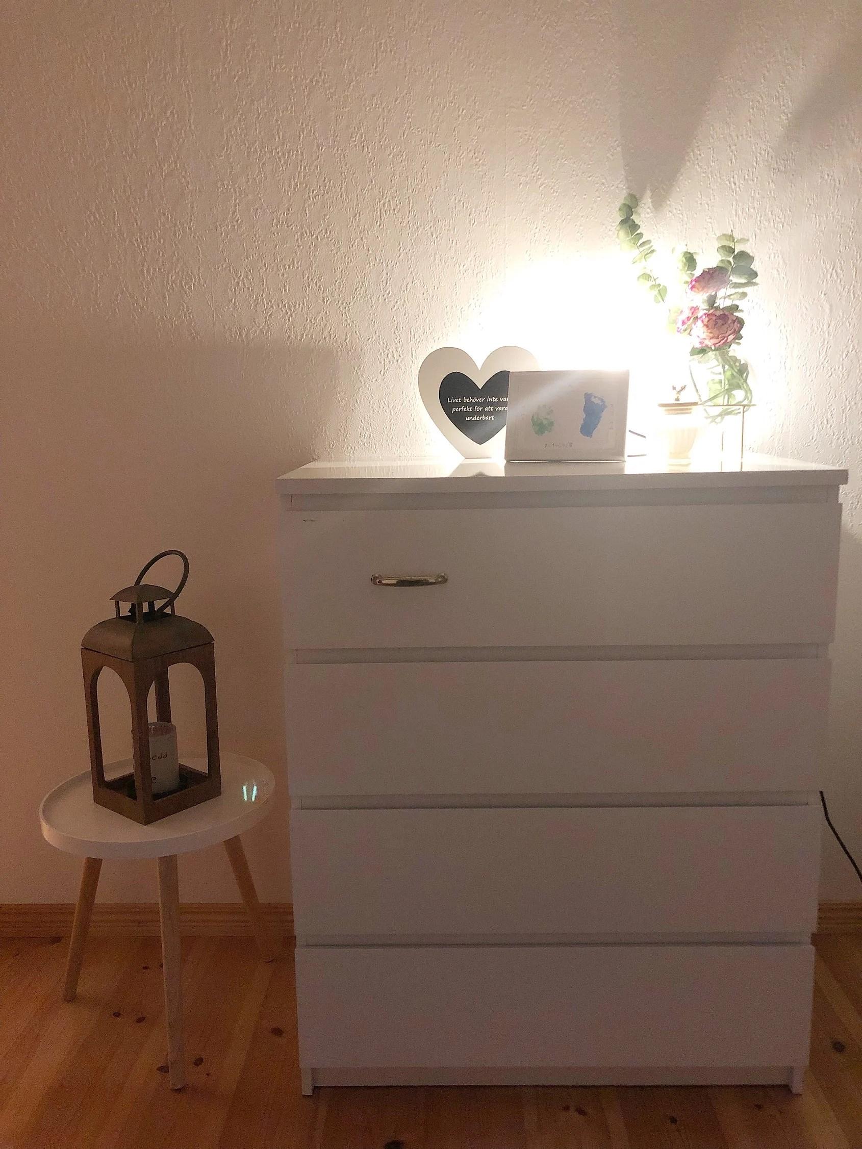 Gjort om i sovrummet!