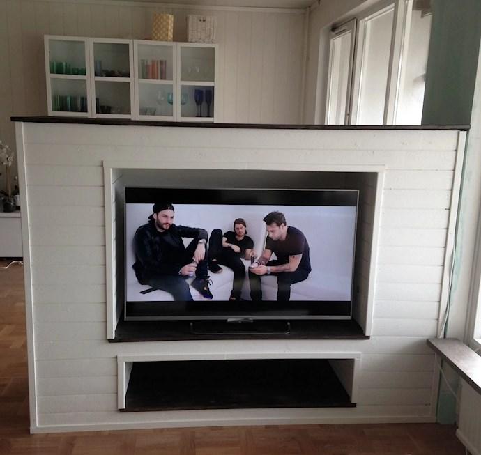 göra egen tv bänk