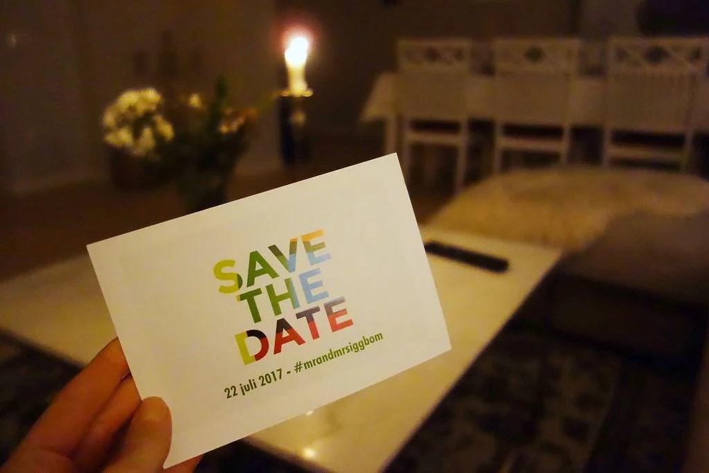 Save the date / Bröllopsplanering