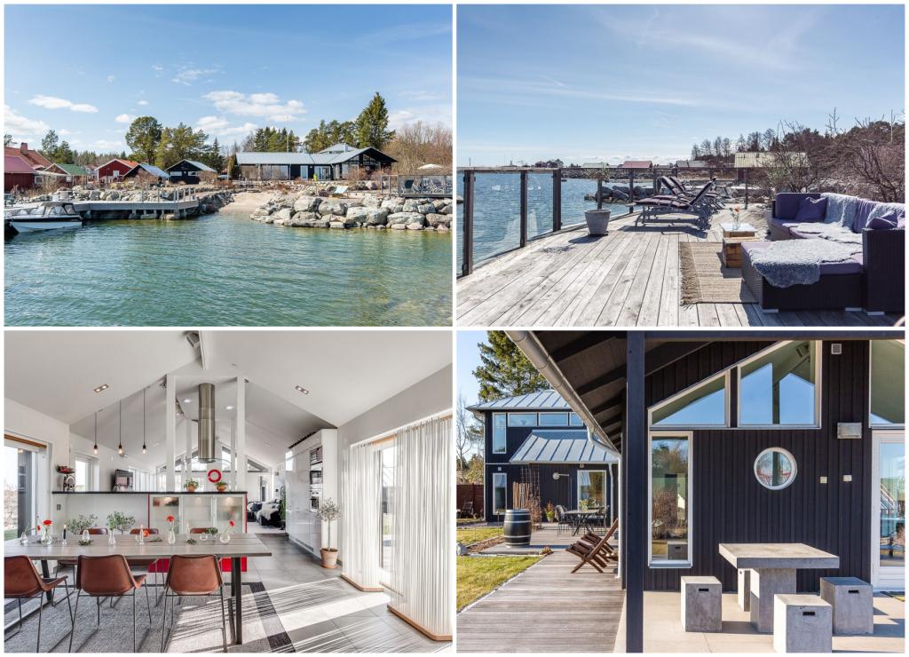 Arkitektritat hus med havstomt till salu