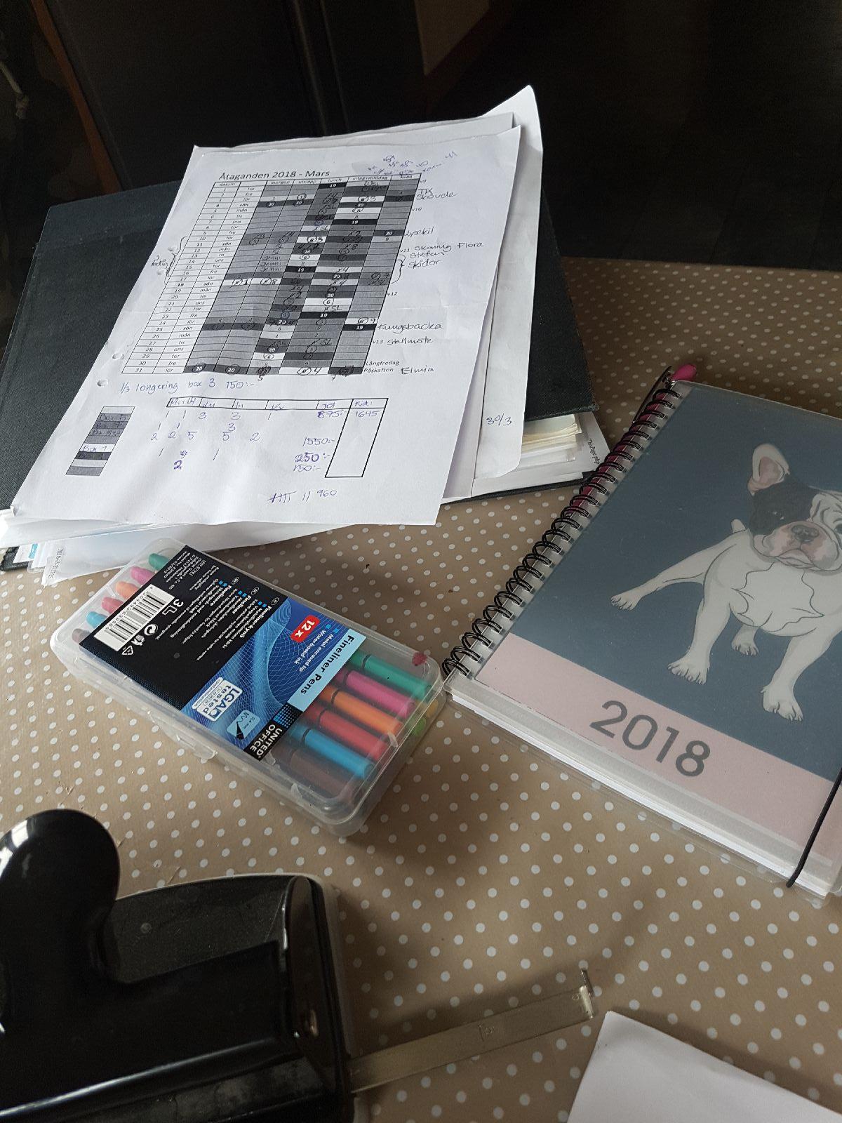 Måndag och pappersarbete