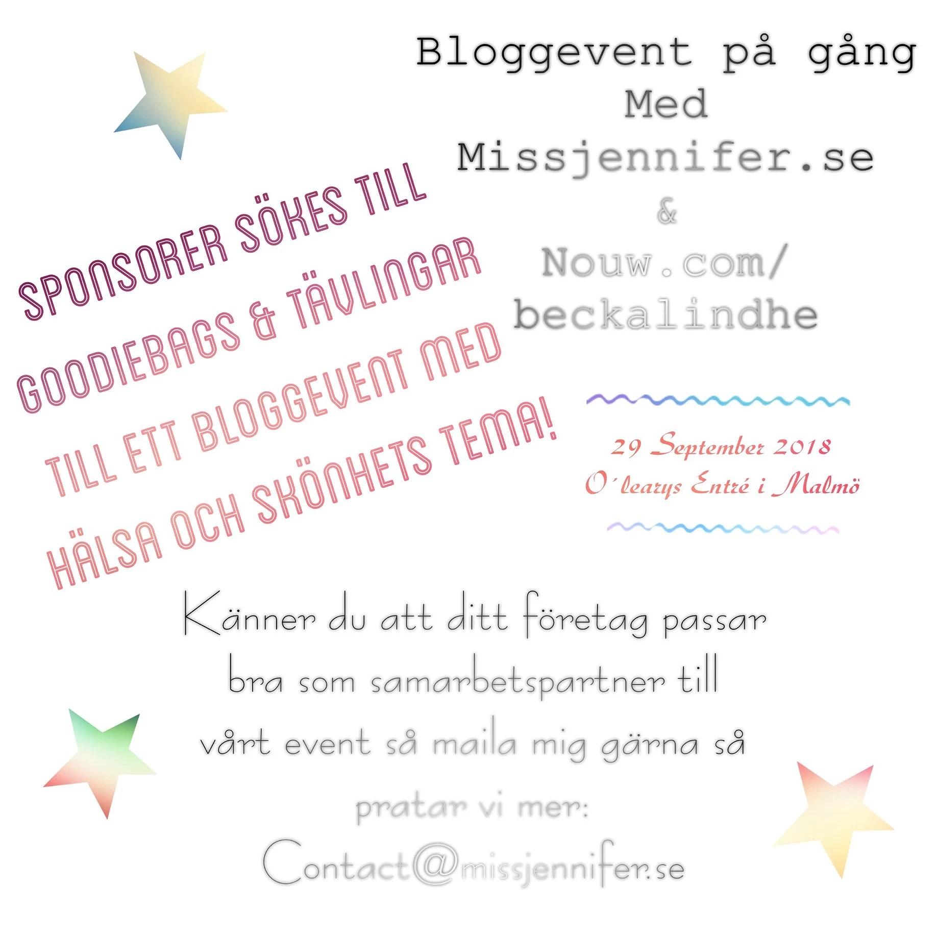 Samarbetspartner sökes till bloggevent med hälsa och skönhets tema!