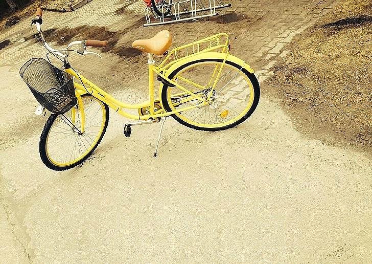 Blitt med cykel