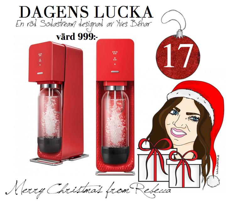Lucka nr: 17 en röd Sodastream värd 999:-