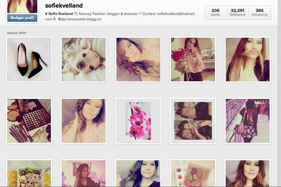 Anbefale din @instagram?