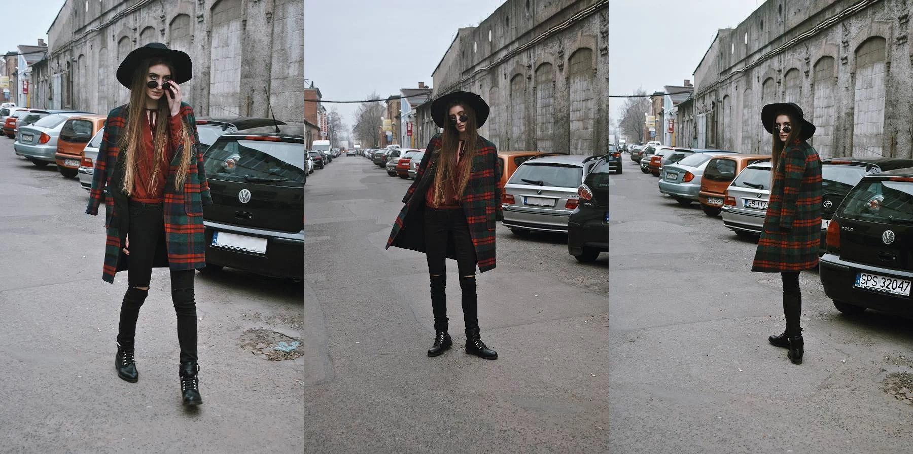 Płaszcz w kratkę - jeden z hitów jesień/zima 2016/17 + stylizacja