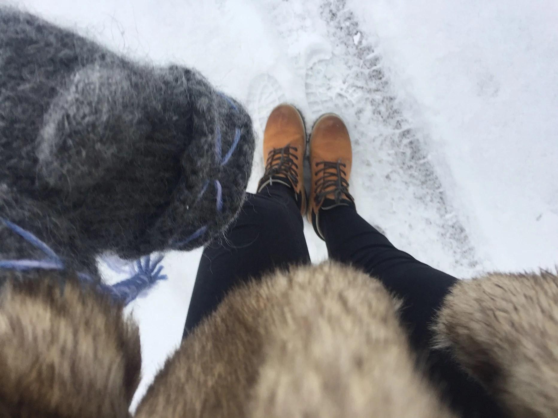 Pälsjacka & snö