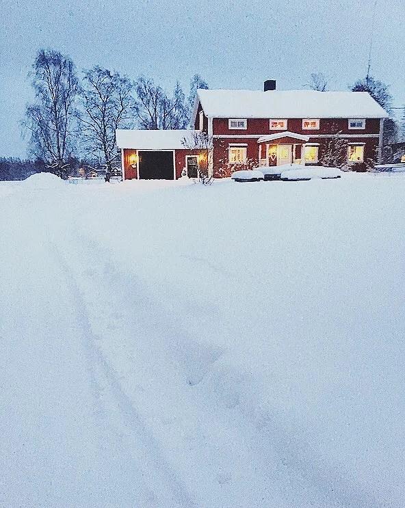 Det regnar snö