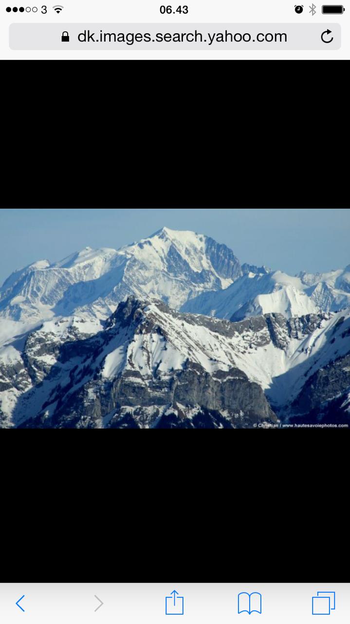 Vær så god: Mont Blanc.