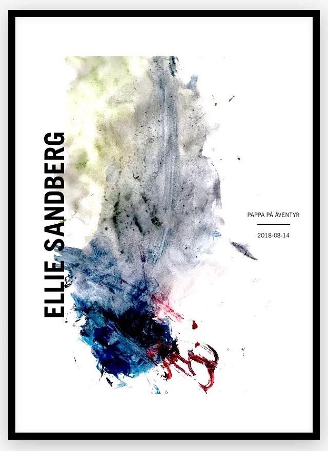 Gjorde en tavla av Ellies målning