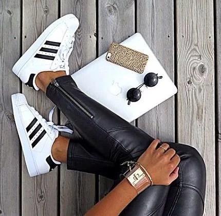 adidas superstar vit svart