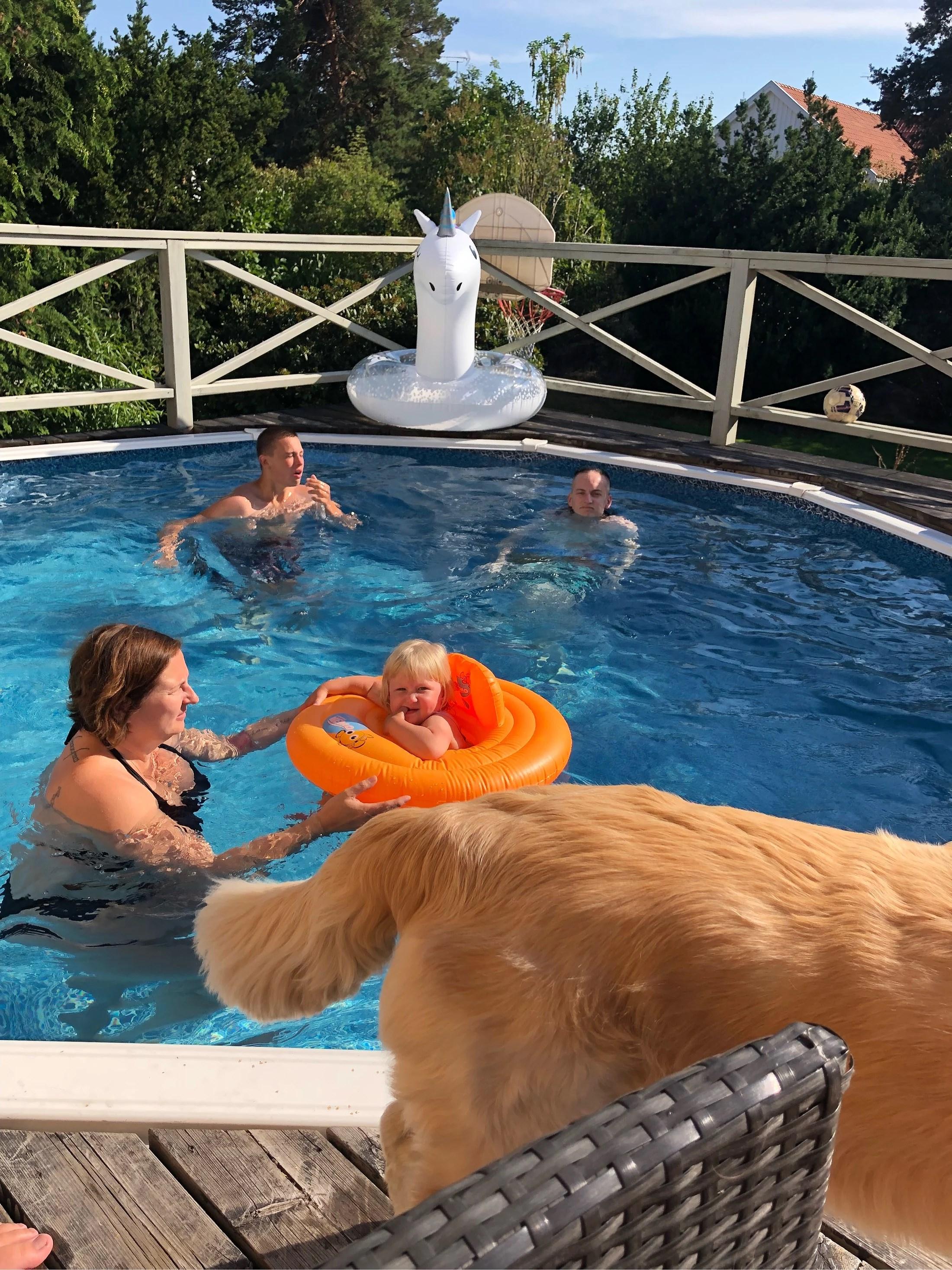 Bad i poolen