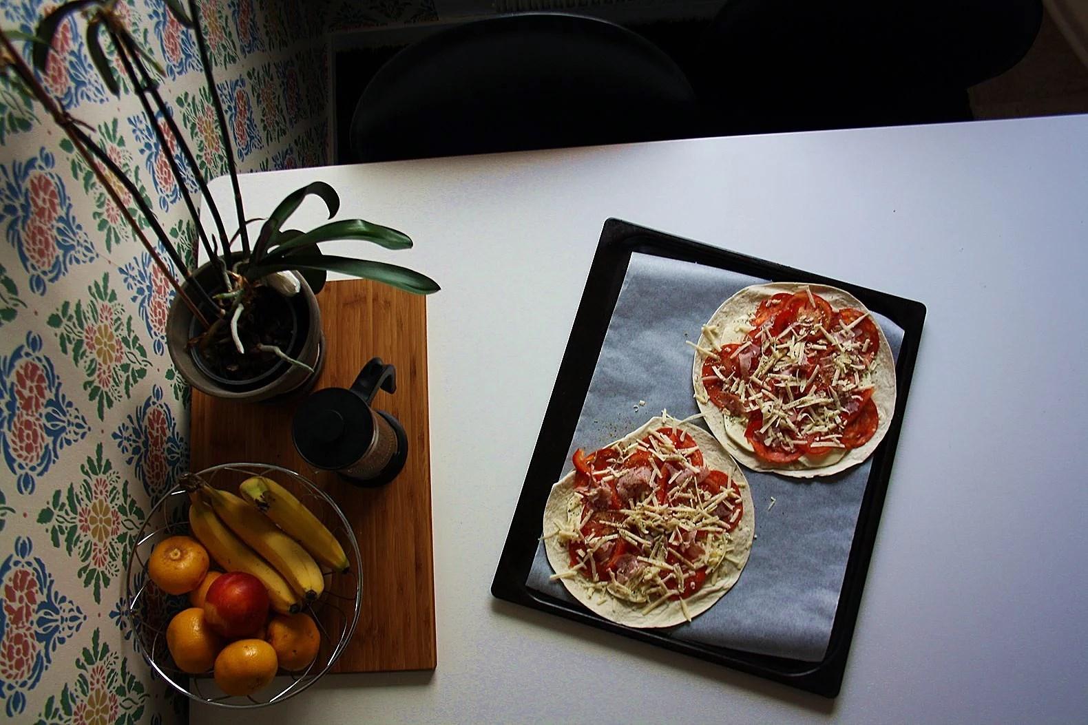 Pizza på tortillabröd
