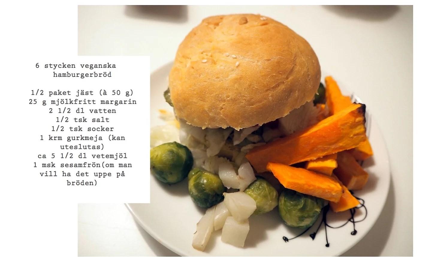Veganska (ham)burgerbröd