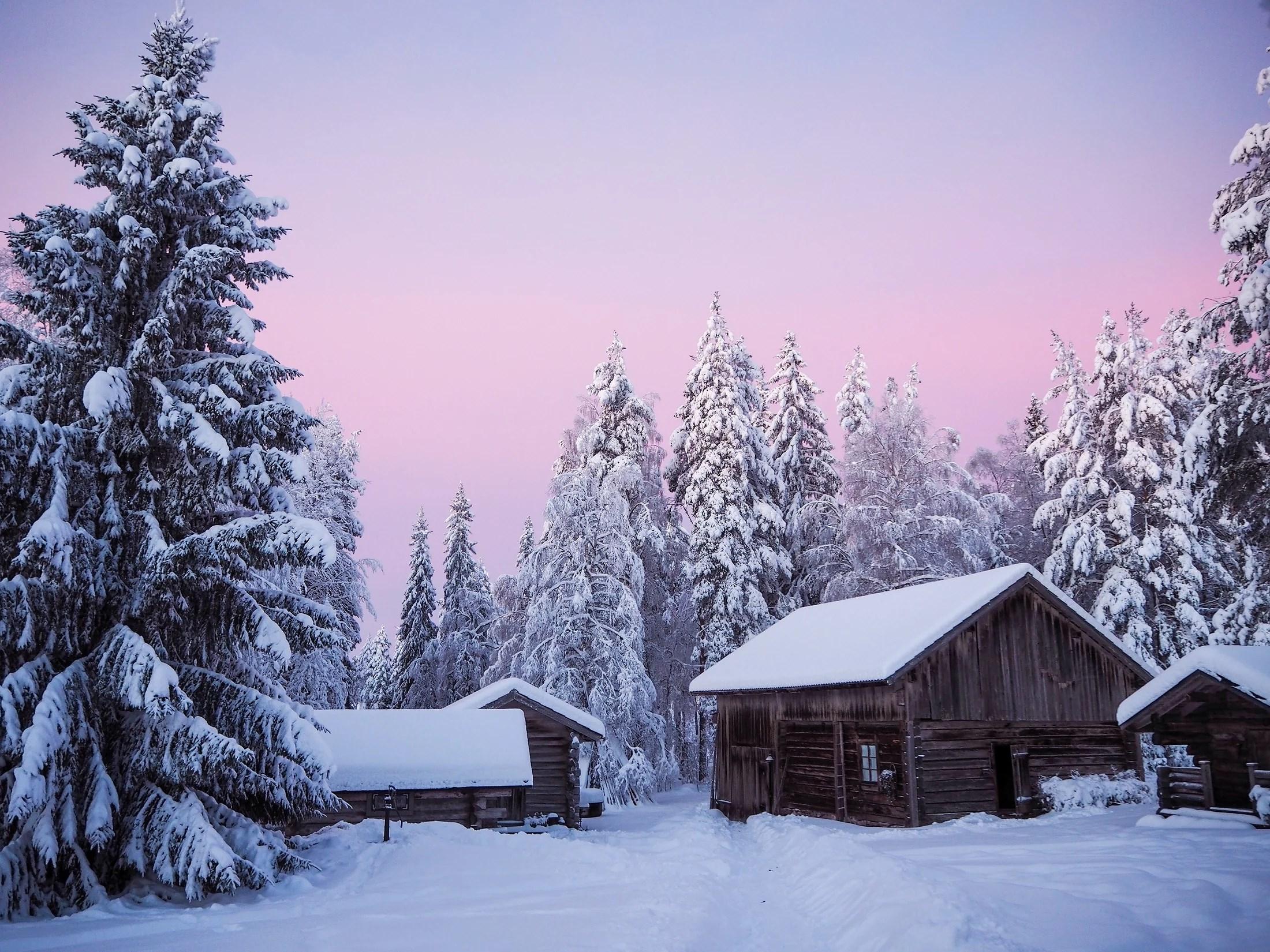 Julaftonsmorgon i buder