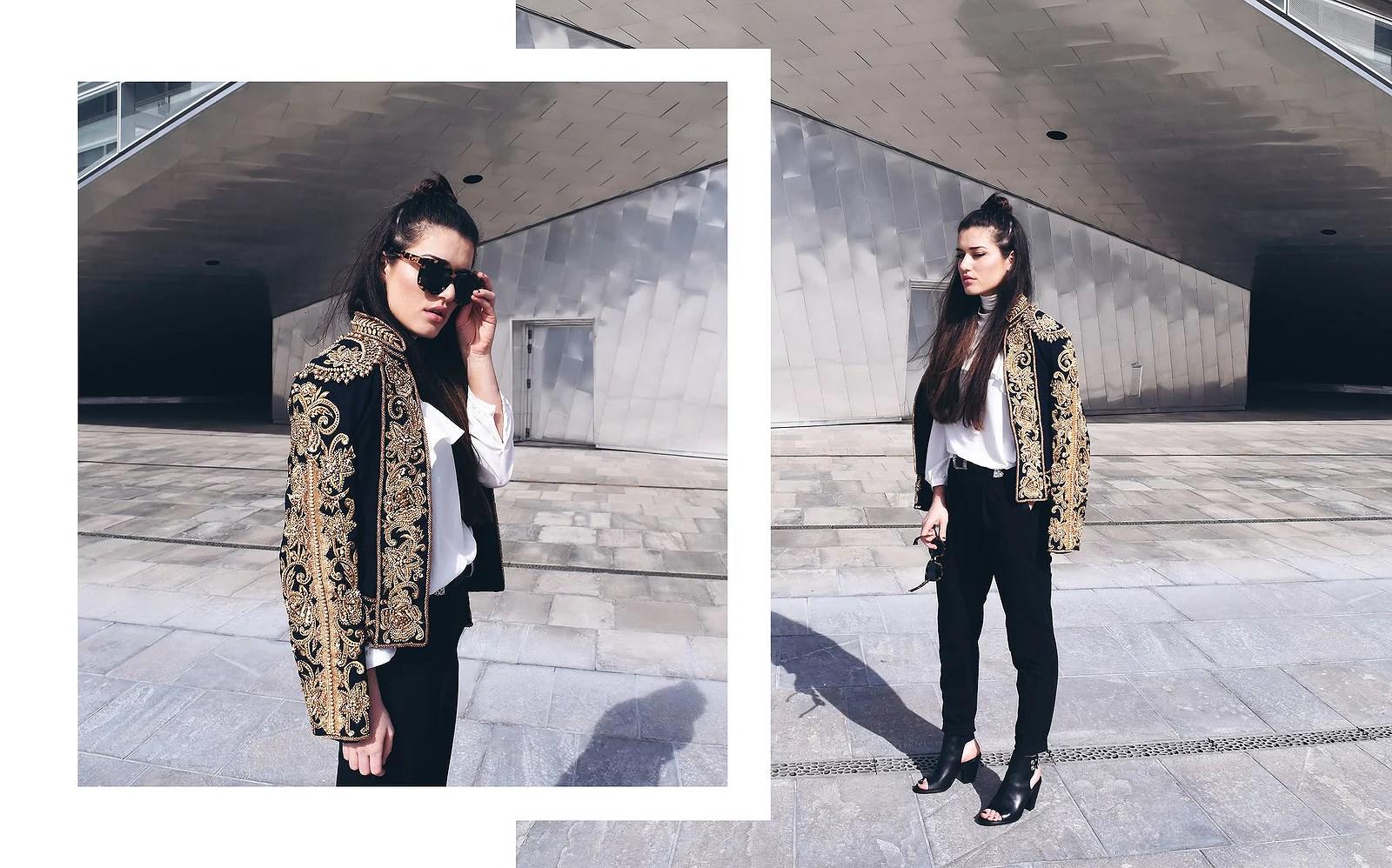 balmain inspired jacket