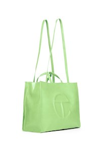 Telfar large double mint shopping bag