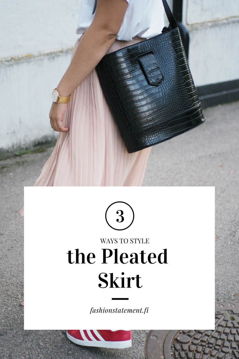 3 WAYS TO WEAR PLEATED SKIRT