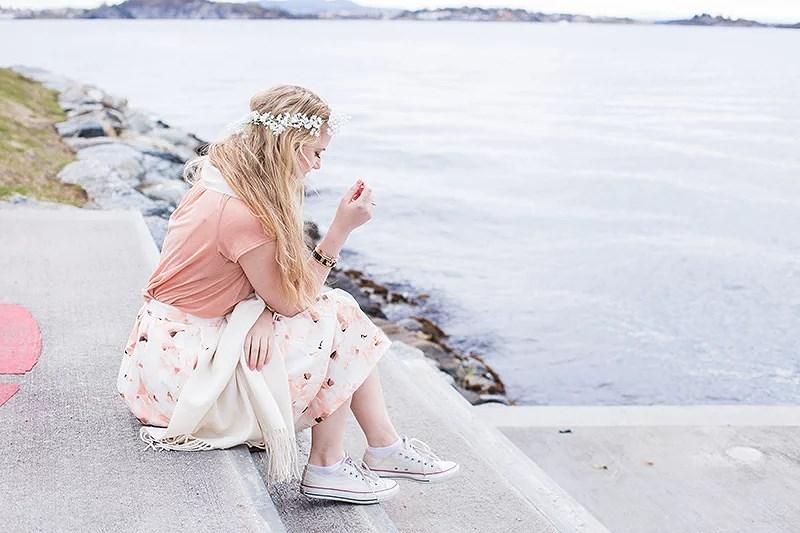 krist.in style flower skirt bikbok