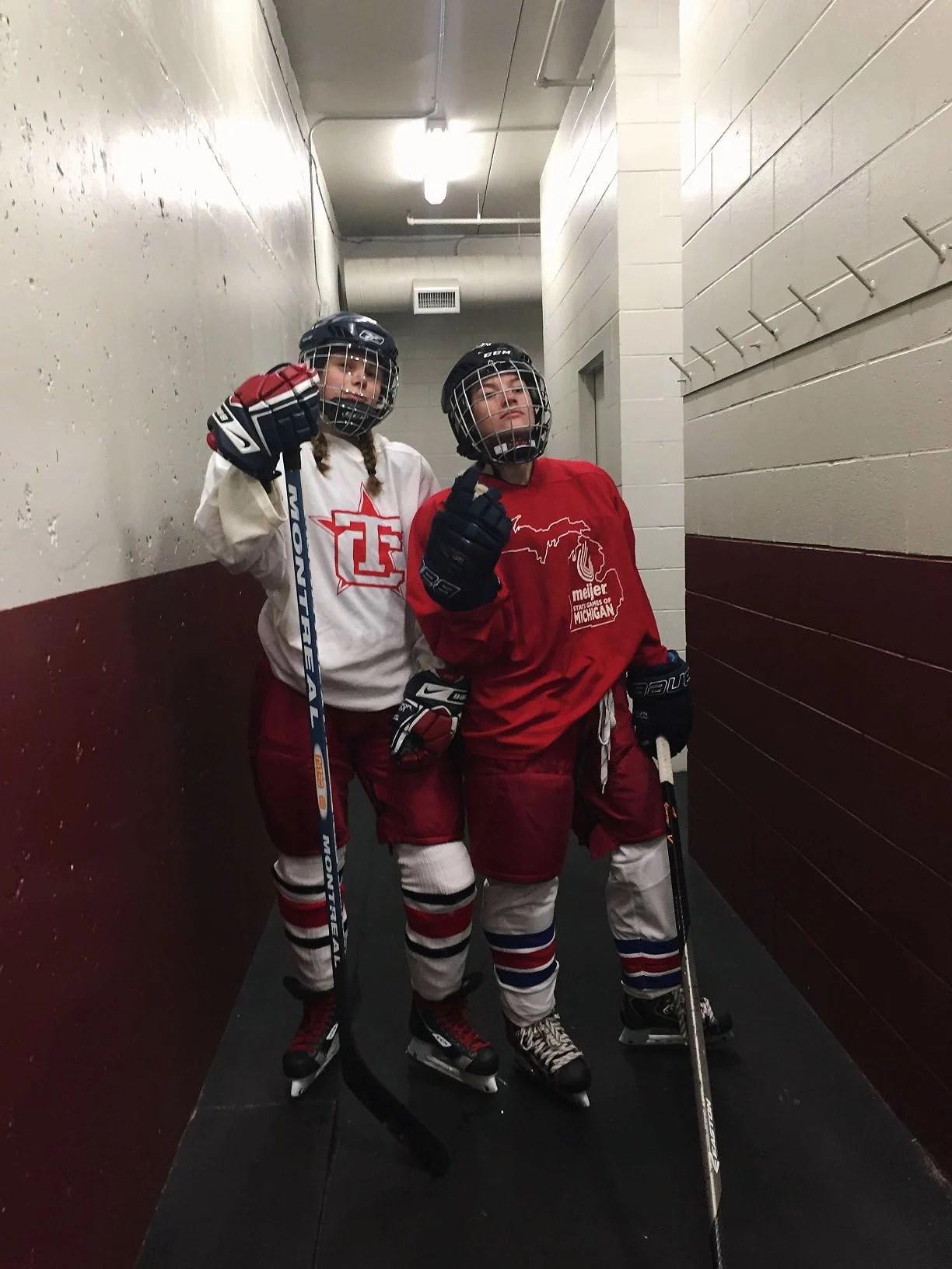 bikram yoga och första hockeyträningen