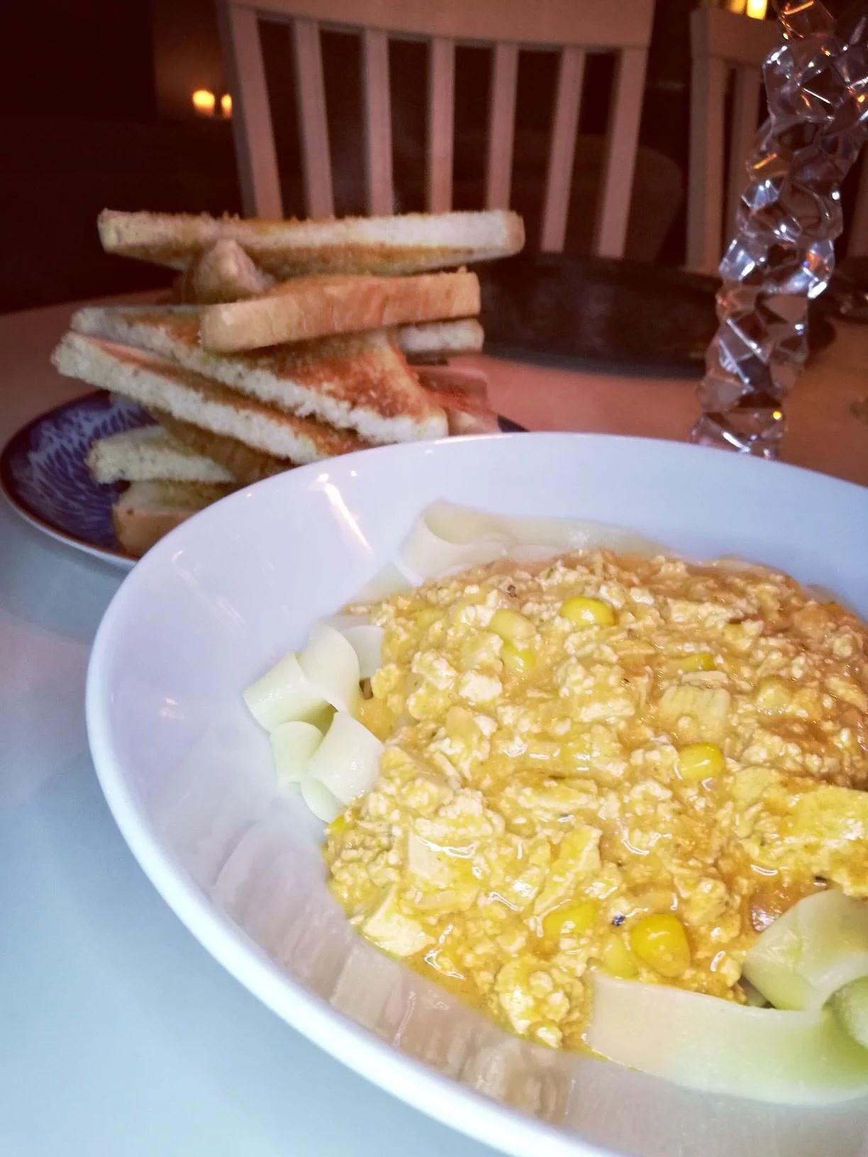 Gräddig tofu pasta!