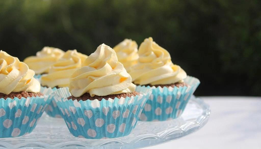 Glutenfria chokladcupcakes
