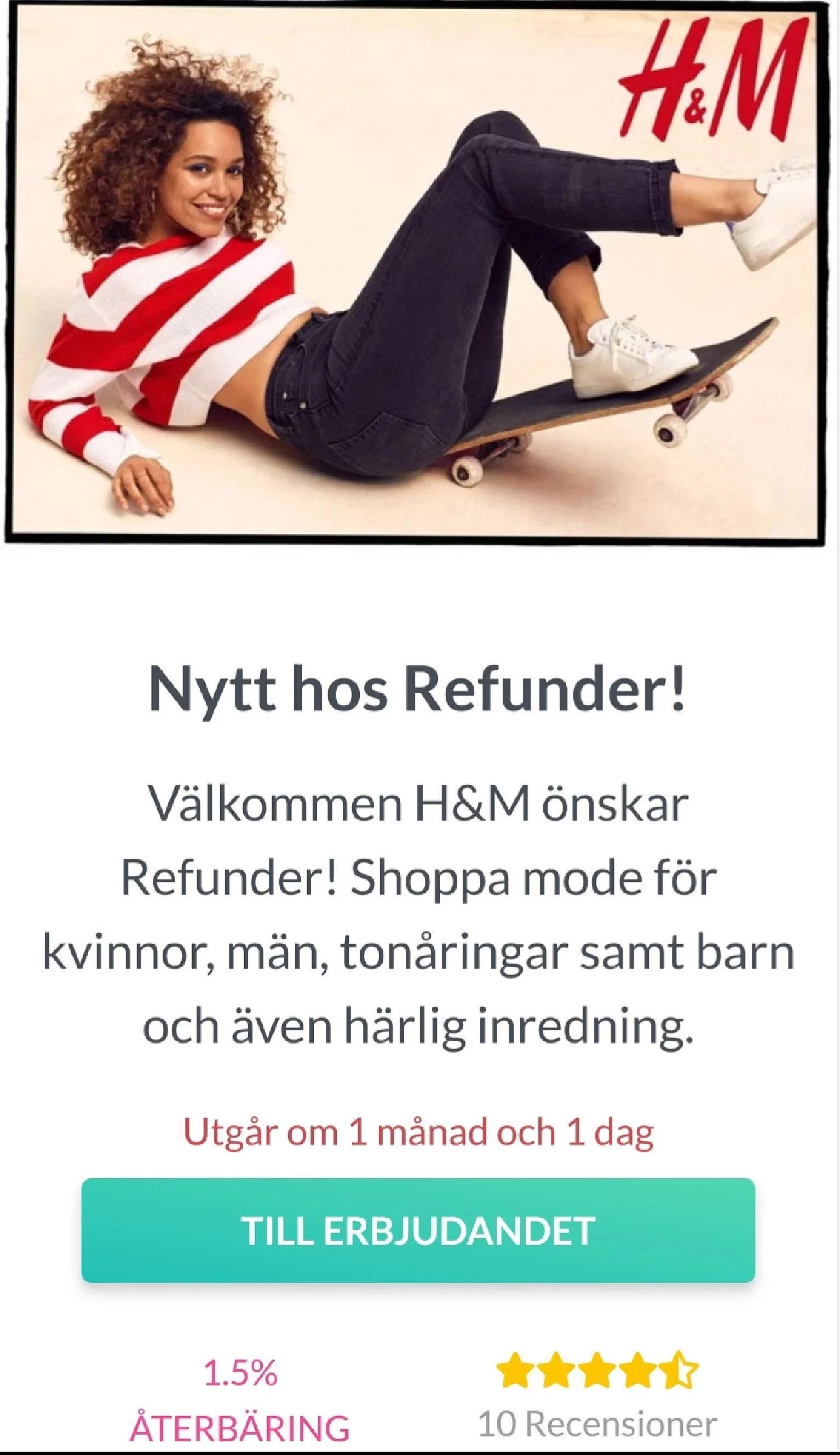 Cashback från HM...