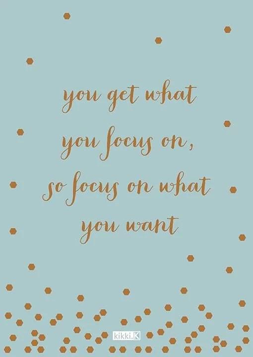 Fokusera på vad du önskar