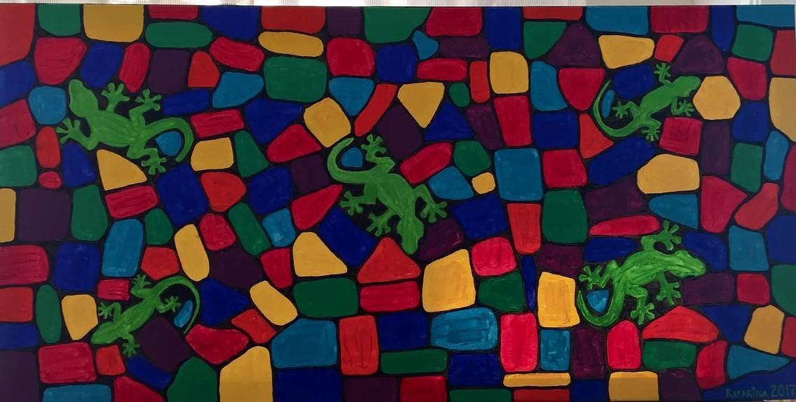 my latest artwork / more lizards