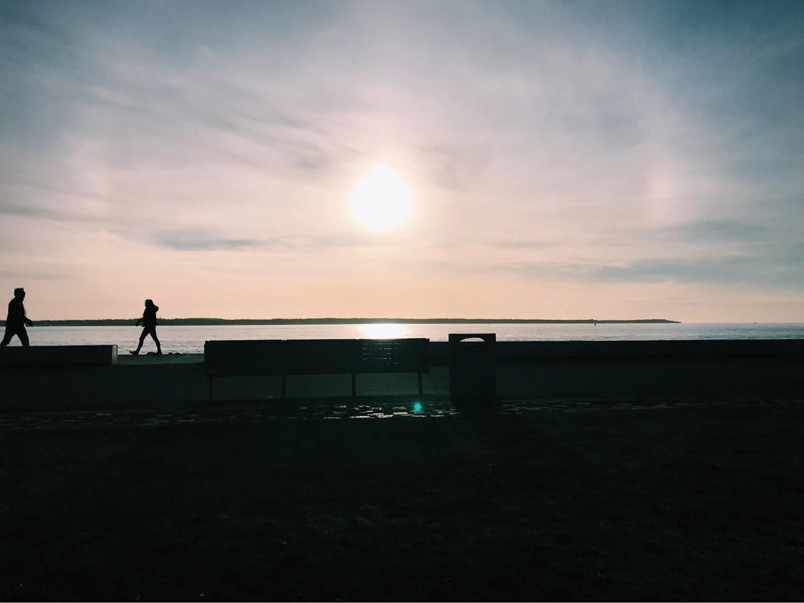 Solnedgång på Gröningen