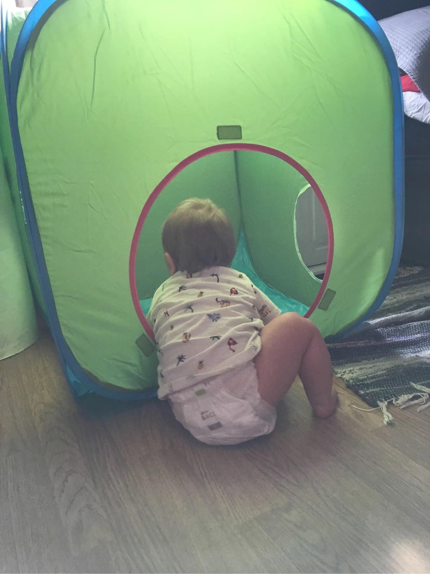 Han kan krypa!