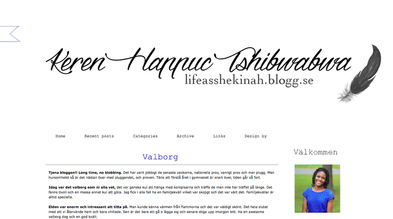 Kerens bloggdesign