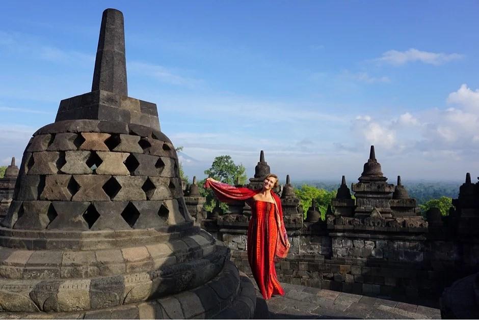 Tempel, ormar och Batik i Yogyakarta