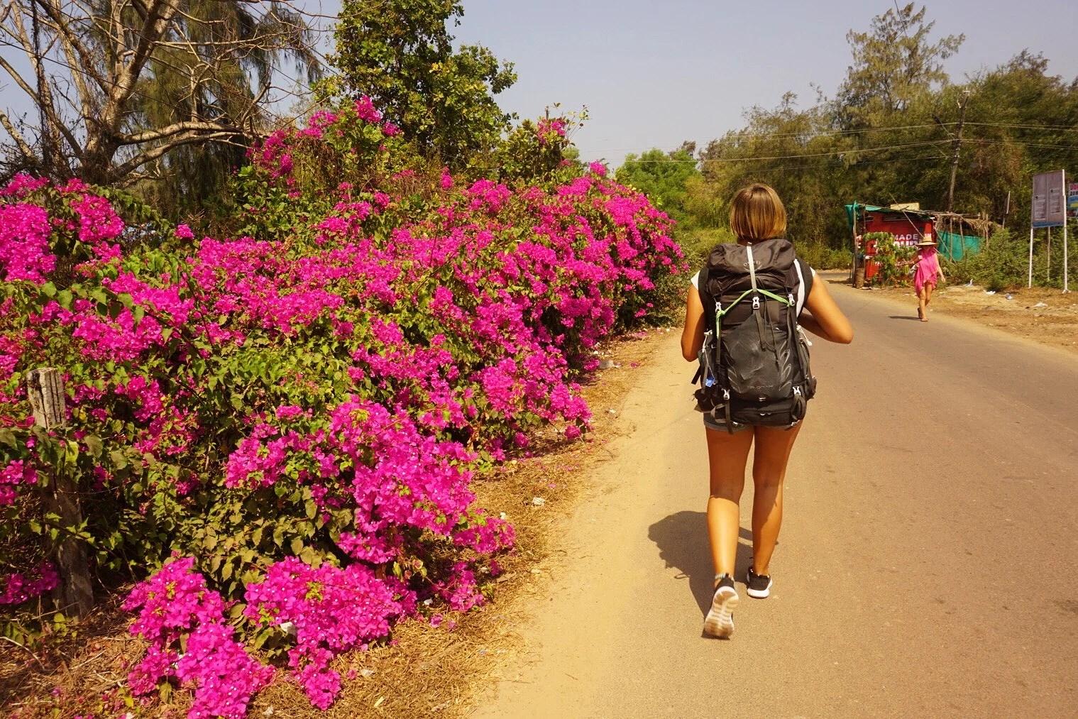Upptäcker Yoga och rosa himlar i Goa!