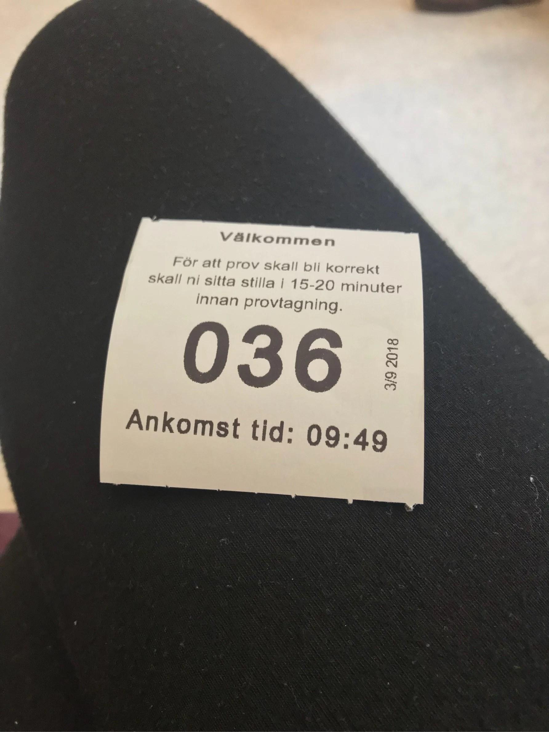 Startade veckan med sjukhusbesök