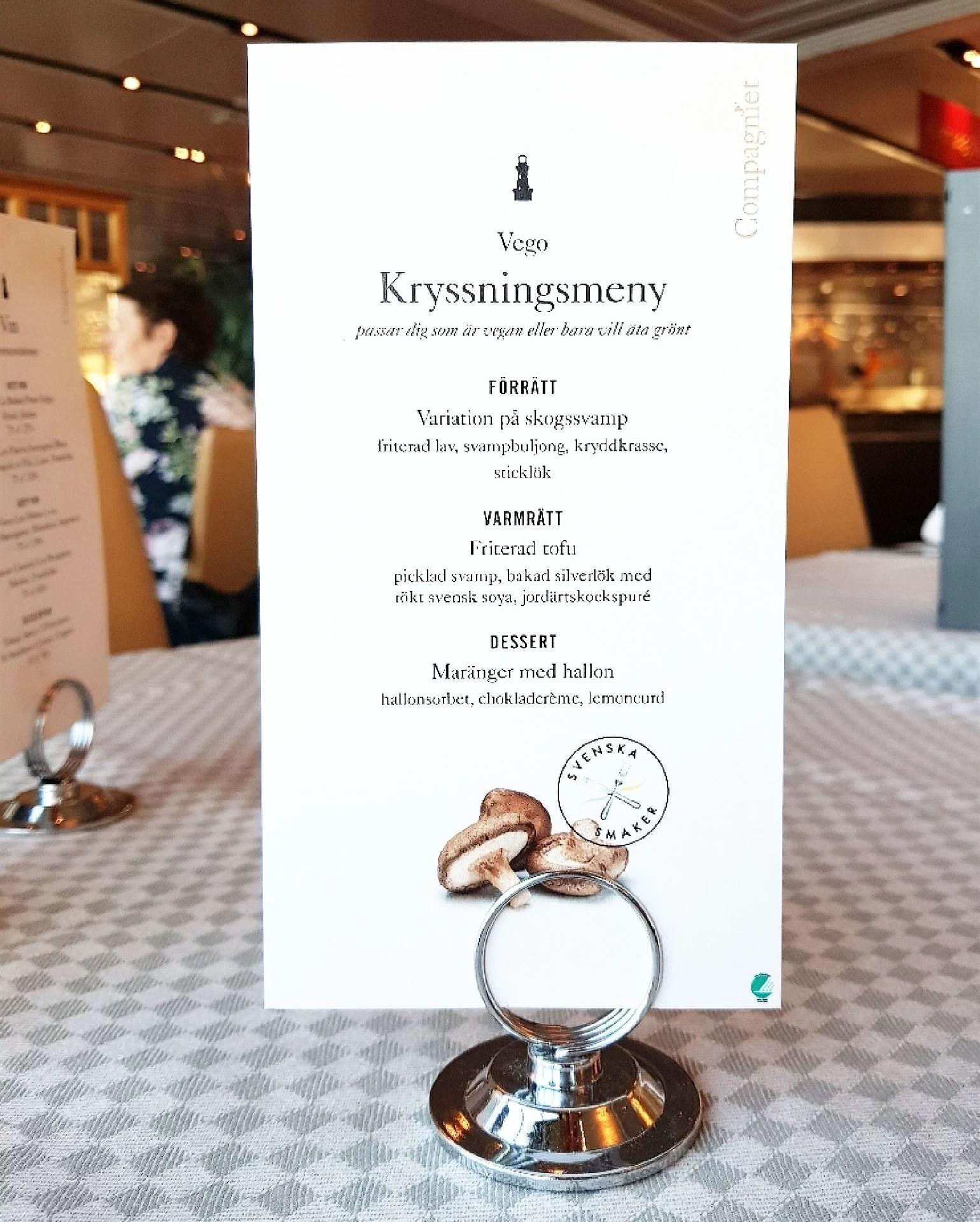 birka cruises vegansk meny