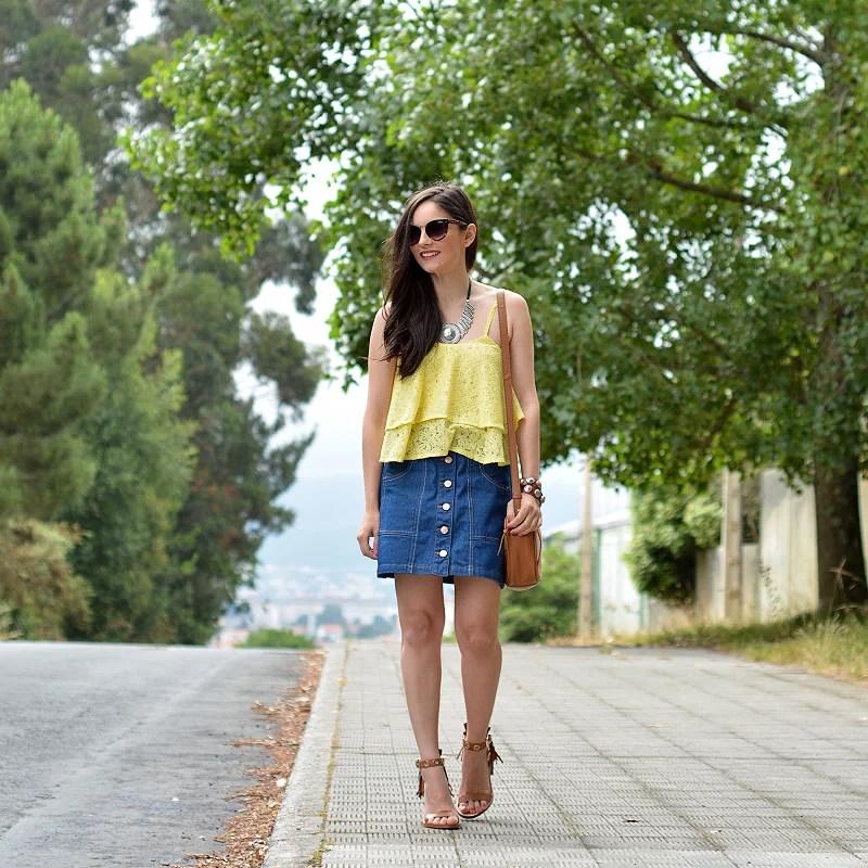 zara_stradivarius_ootd_outfit_mini falda_denim_01