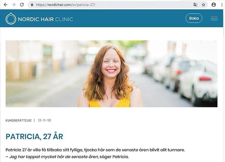 PRP hos Nordic Hair Clinic