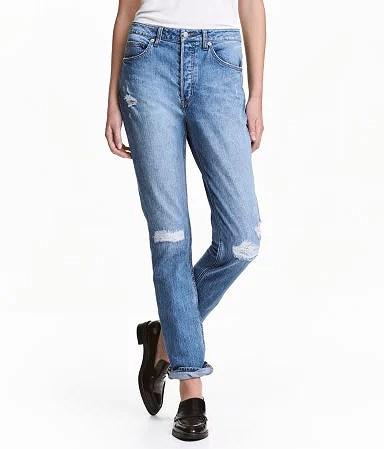h&m denim bukser