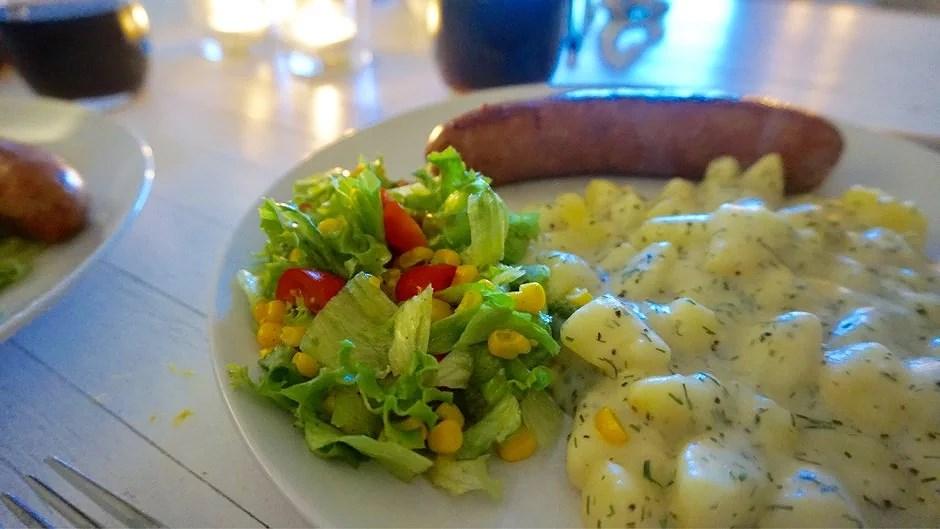 Isterban med dillstuvad potatis