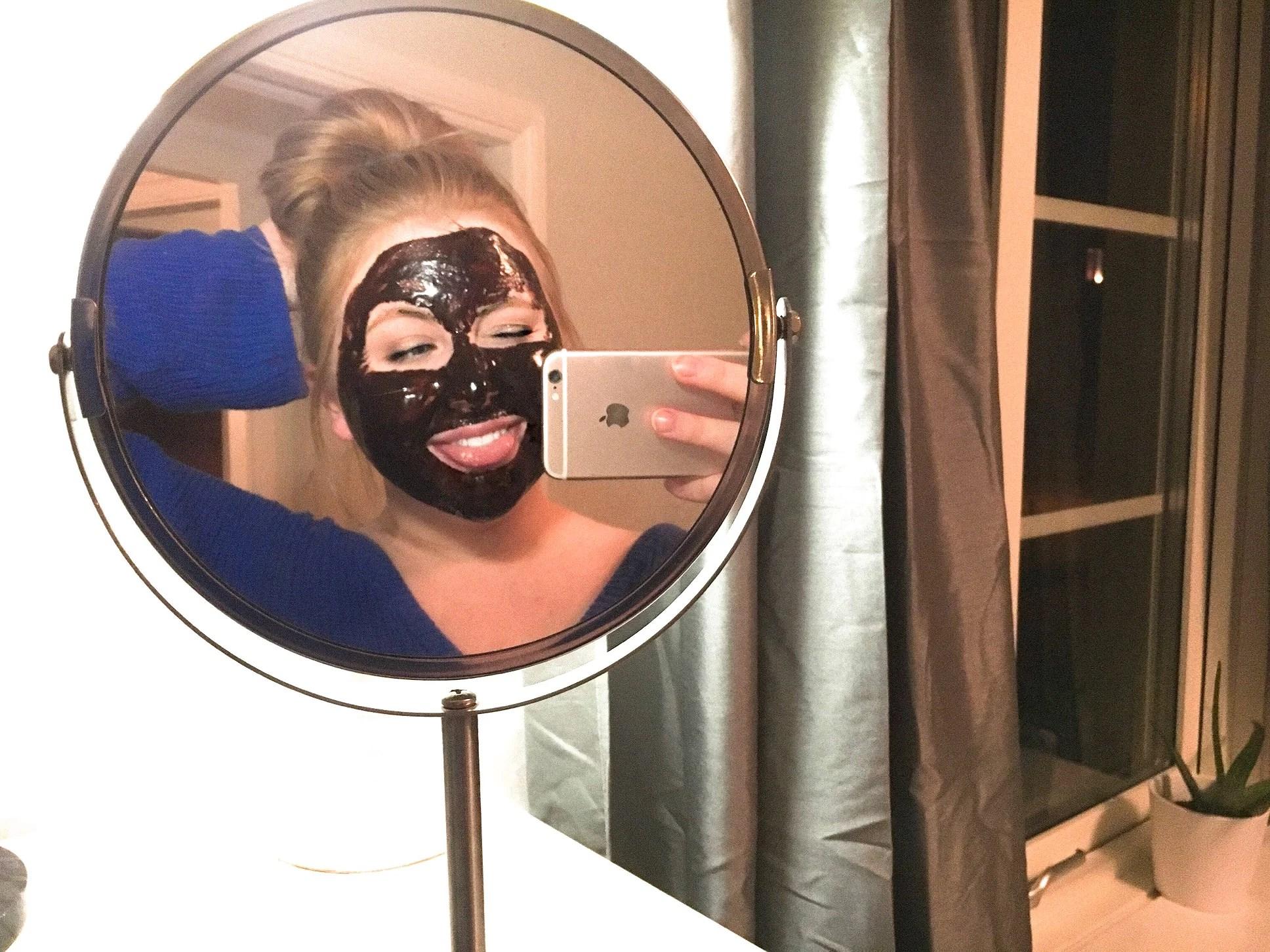 DIY face mask - cacao