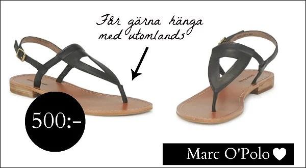 På jakt efter de perfekta sandalerna