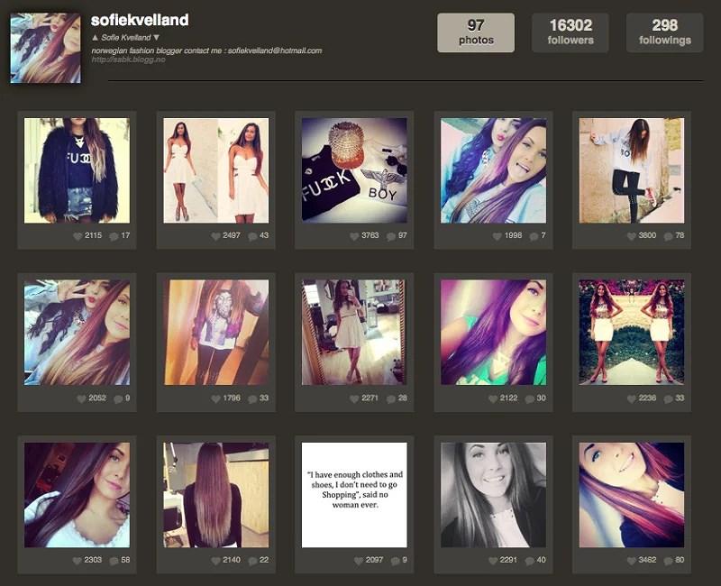 vil du ha din instagramprofil anbefalt?