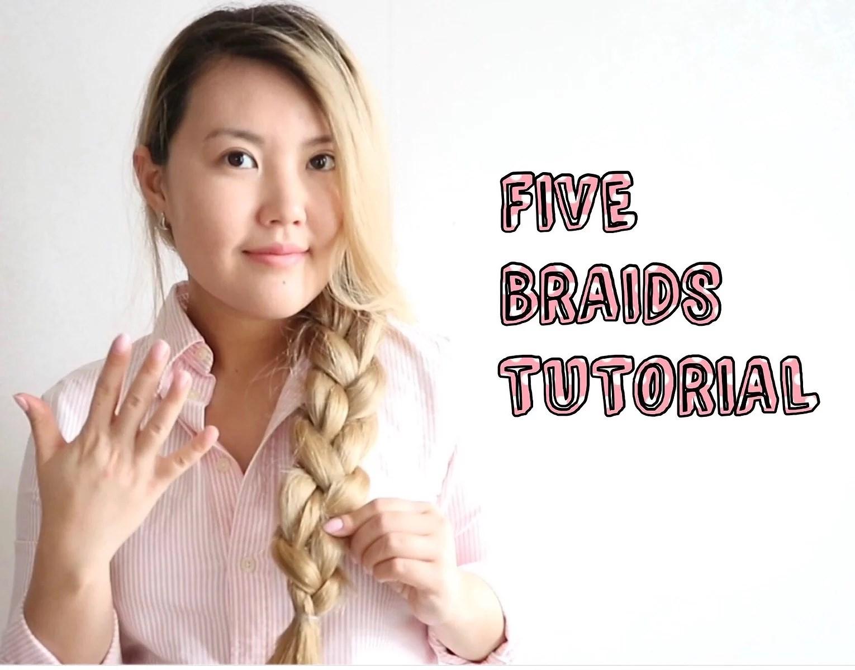 SUPER EASY: FIVE BRAIDS TUTORIAL