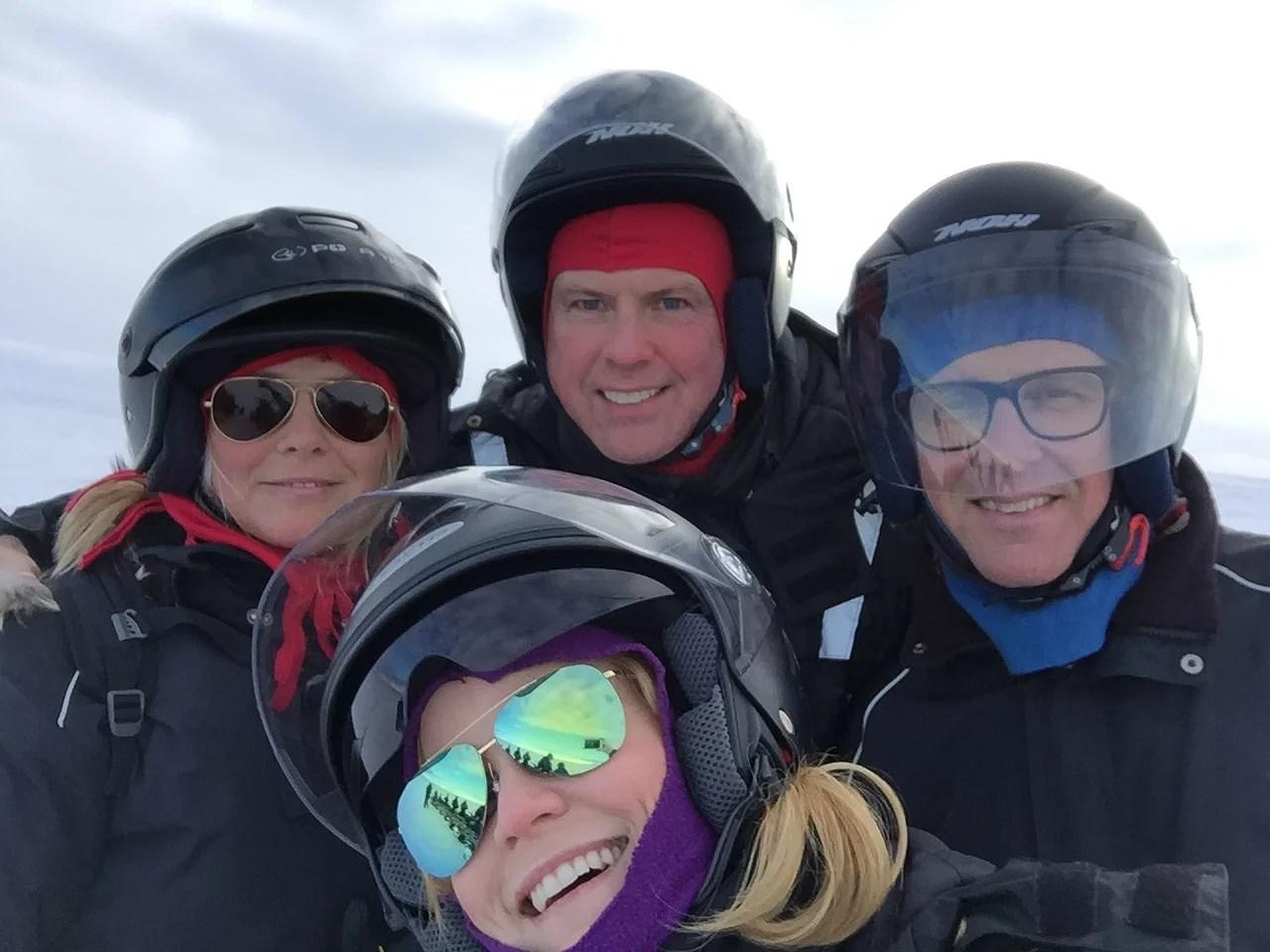 Inga, Sigge, Thomas og jeg. Vores Stop-over-buddy's