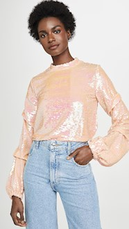 SEQUIN TOP LONG SLEEVE