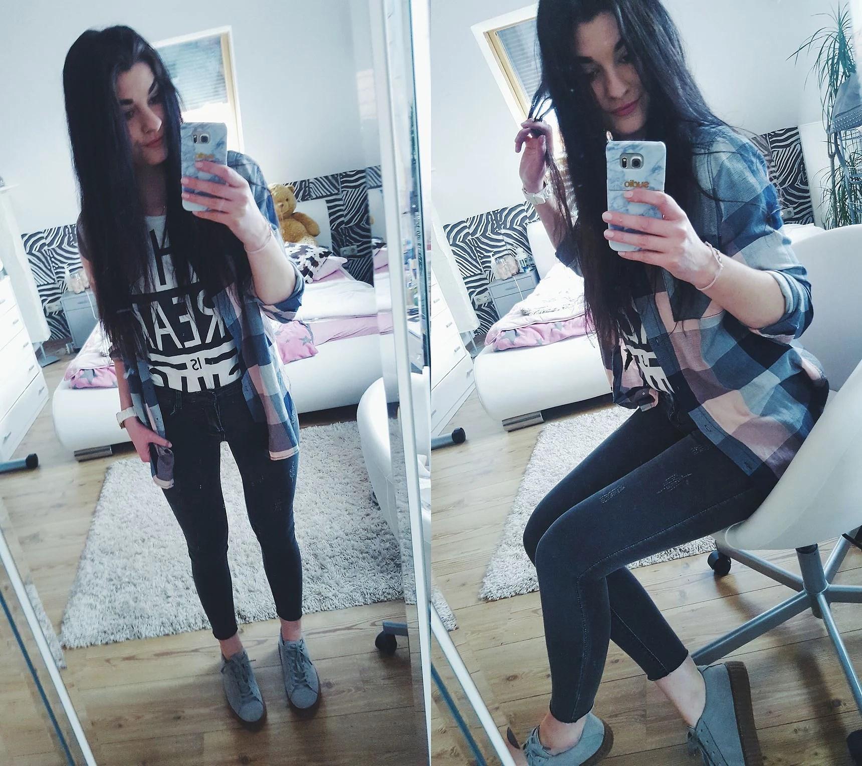 Szare spodnie - jeans